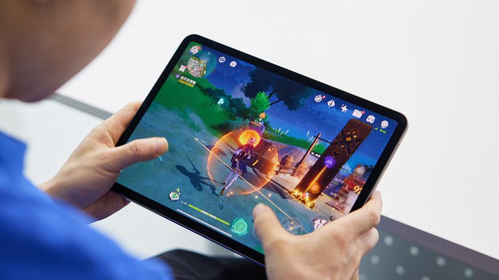 原神通过 iPad Pro,带给玩家出色的游戏体验。