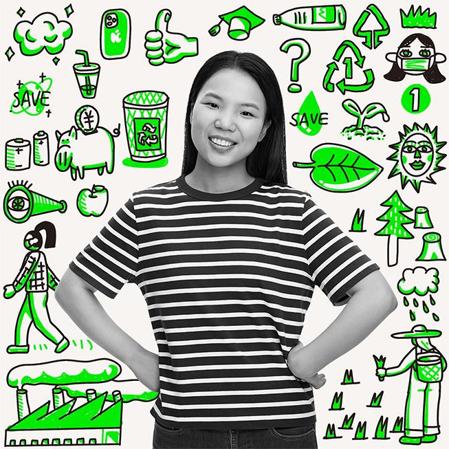 """石兰香 2017 年参加中国绿色创新夏季学院项目,之后在北京郊区的农村做了三年""""大学生村官""""。"""