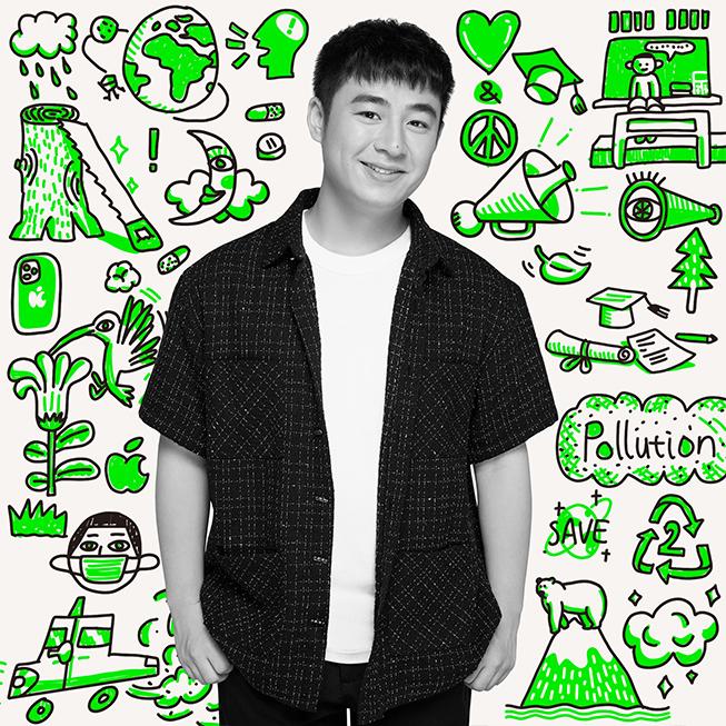 """2019 年学员田育青是中国绿色创新夏季学院项目在华中的""""宣传大使"""",在年轻人中积极普及该项目的理念,促进环保领域的跨学科尝试。"""