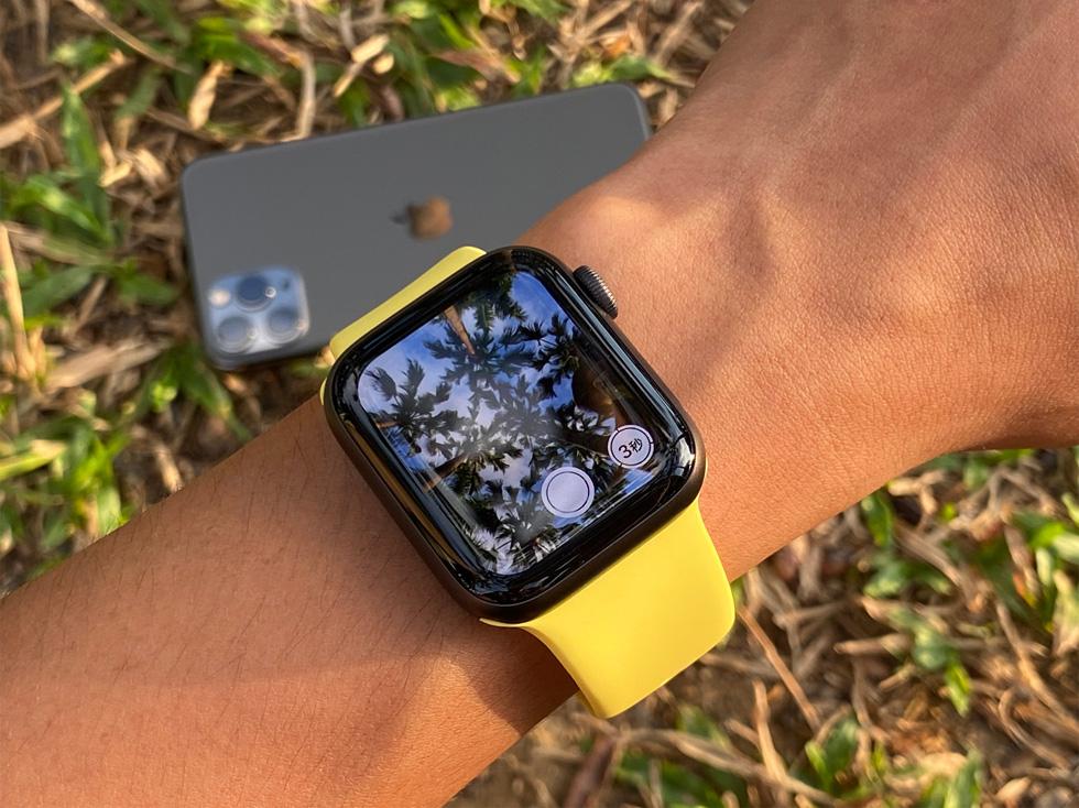 使用 Apple Watch 远程控制 iPhone 相机可为用户提供更大的灵活性。