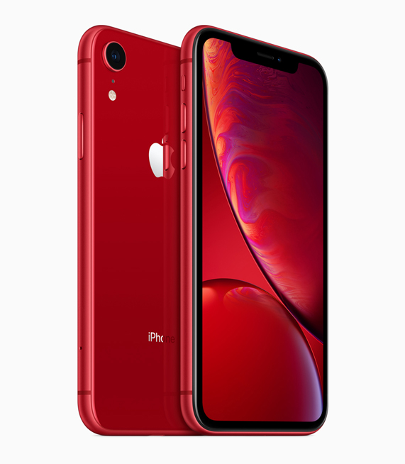 iPhone XR 红色外观。