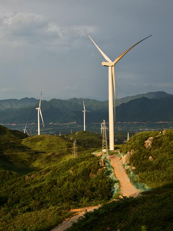 中国的风电场。