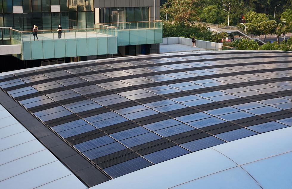 Apple 三里屯的太阳能阵列。