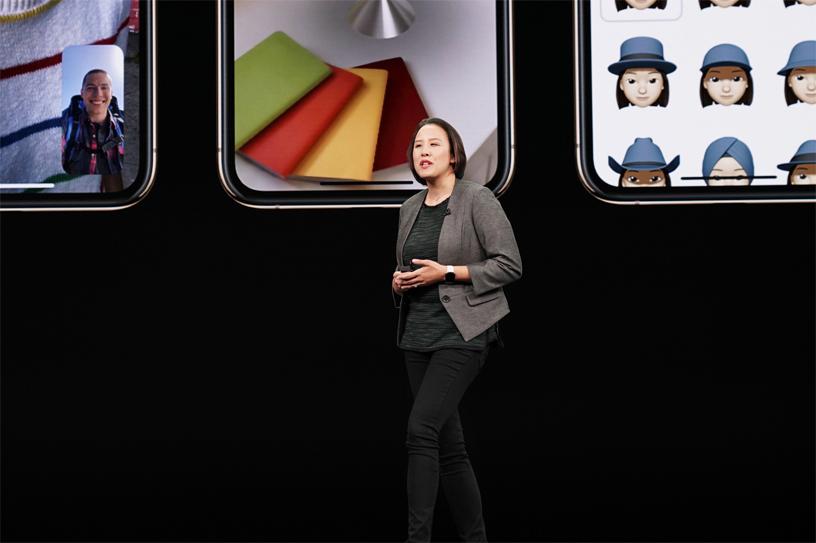 Kaiann Drance 在 Apple 的 9 月特别活动中登台。