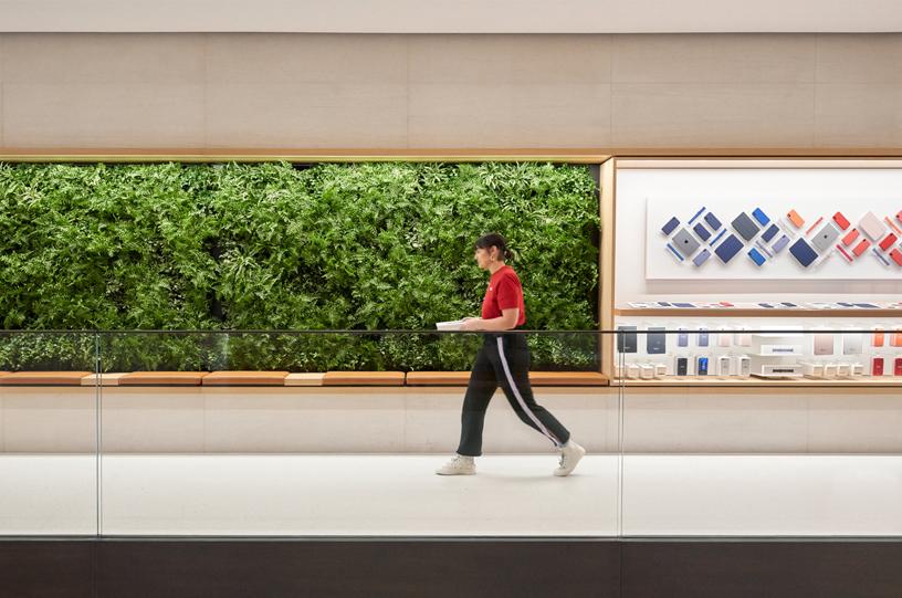与所有其他 Apple Store 零售店一样,Apple Champs-Élysées 由 100% 可再生能源供电。