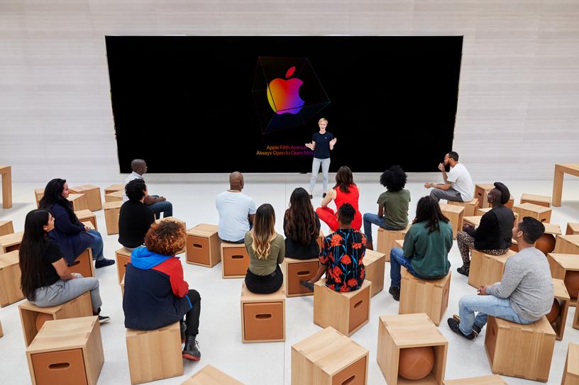 Apple 第五大道零售店的 Forum 互动坊。