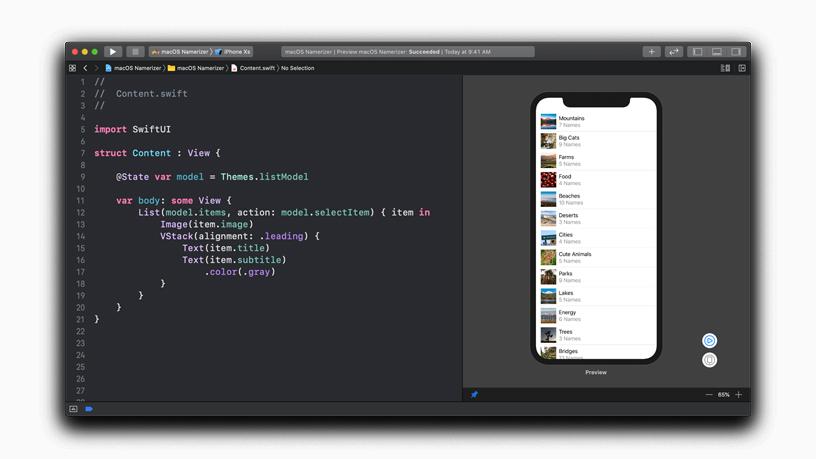 SwiftUI 设计工具布局。