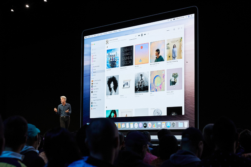 Craig Federighi 在 WWDC 2019 上发布 macOS Catalina。