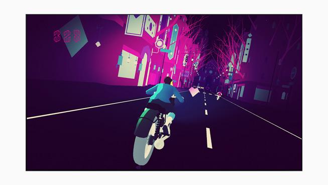 《Sayonara Wild Hearts》的游戏画面。