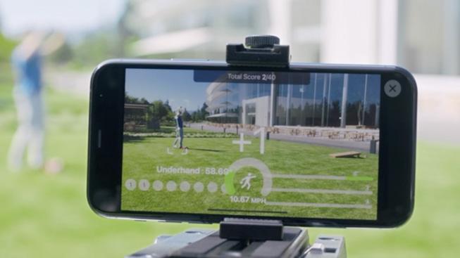Action and Vision app 中身体姿势预测功能的演示。