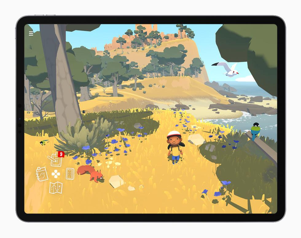 Alba 游戏画面,在 iPad Pro 上展示。