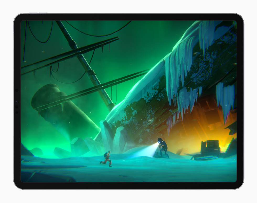 Little Orpheus 游戏画面,在 iPad Pro 上展示。