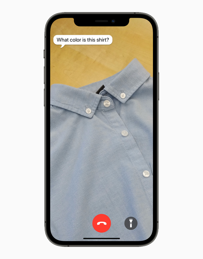 Be My Eyes app,在 iPhone 12 Pro 上展示。