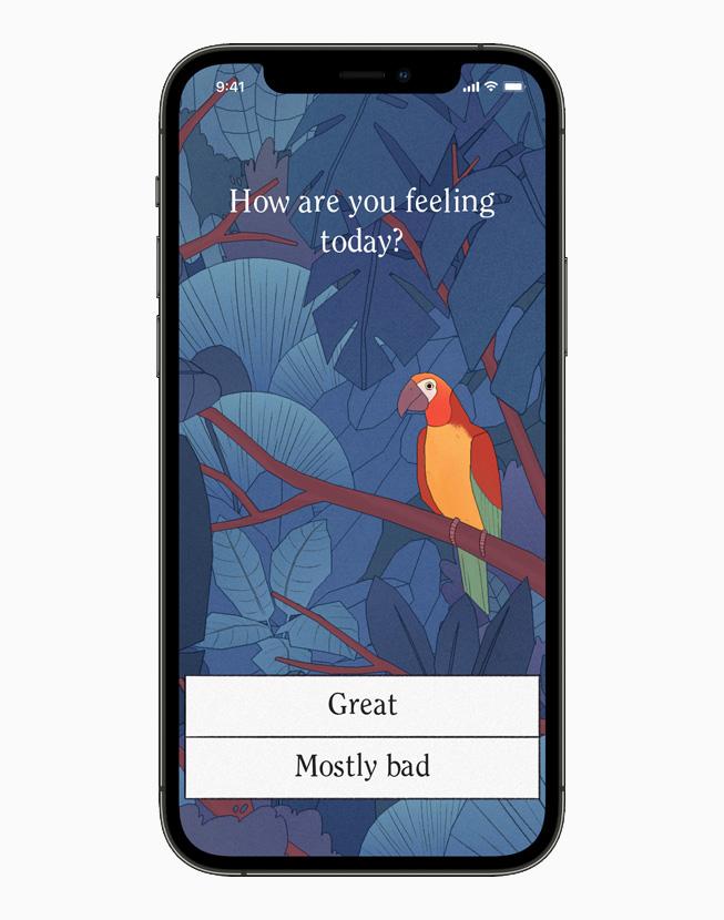 孤独的鸟儿游戏画面,在 iPhone 12 Pro 上展示。