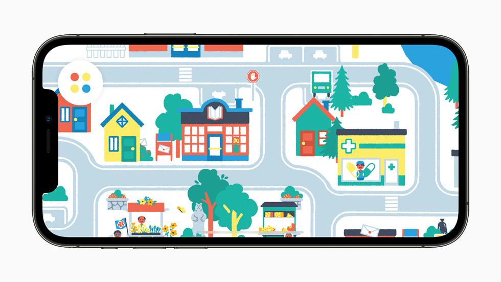 Pok Pok Playroom 游戏画面,在 iPhone 12 Pro 上展示。