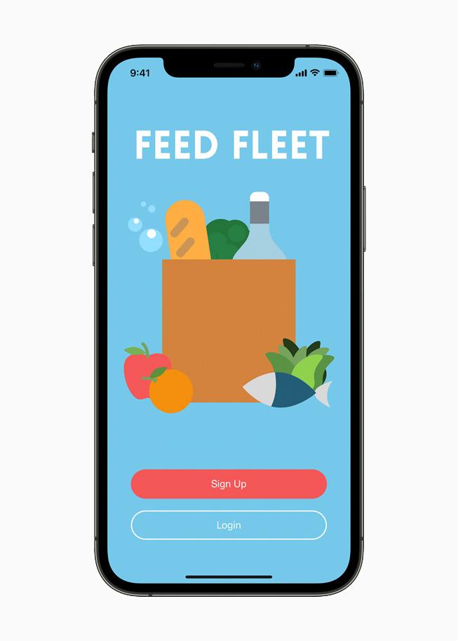 Feed Fleet 的着陆页。