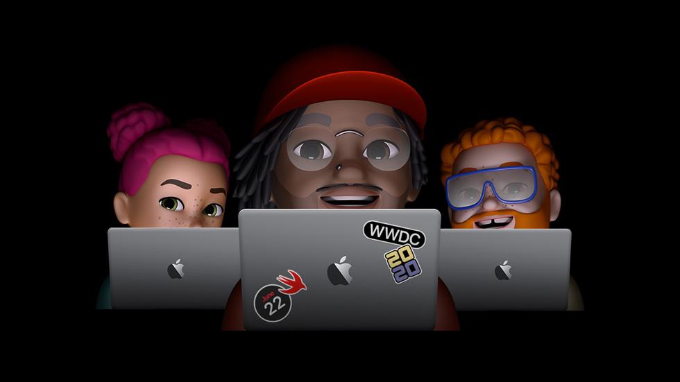 带有拟我表情的 WWDC 2020 海报。
