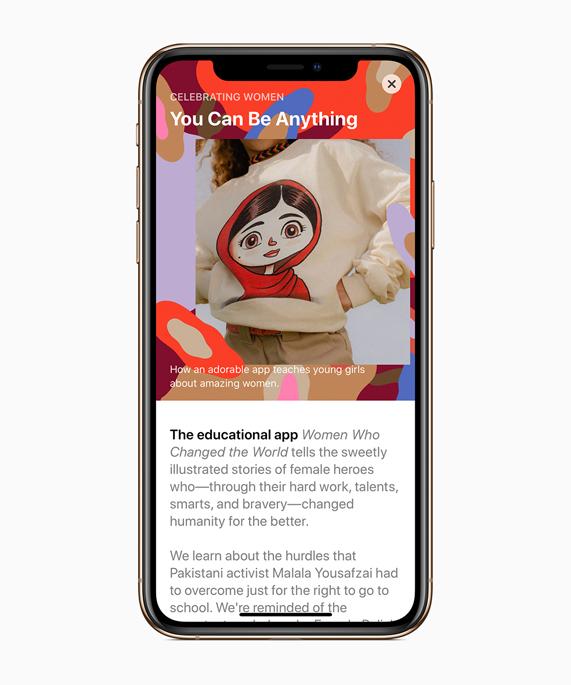 为庆祝国际妇女节的到来,App Store 整个三月将重点推介女性开发者。