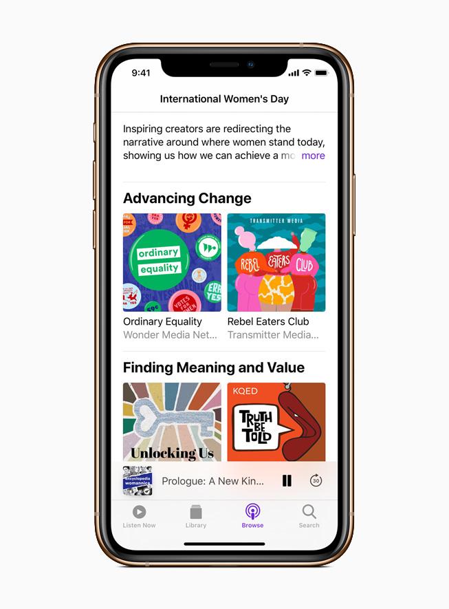 Apple 播客推出女性播客以及女性议题的节目和故事合辑。