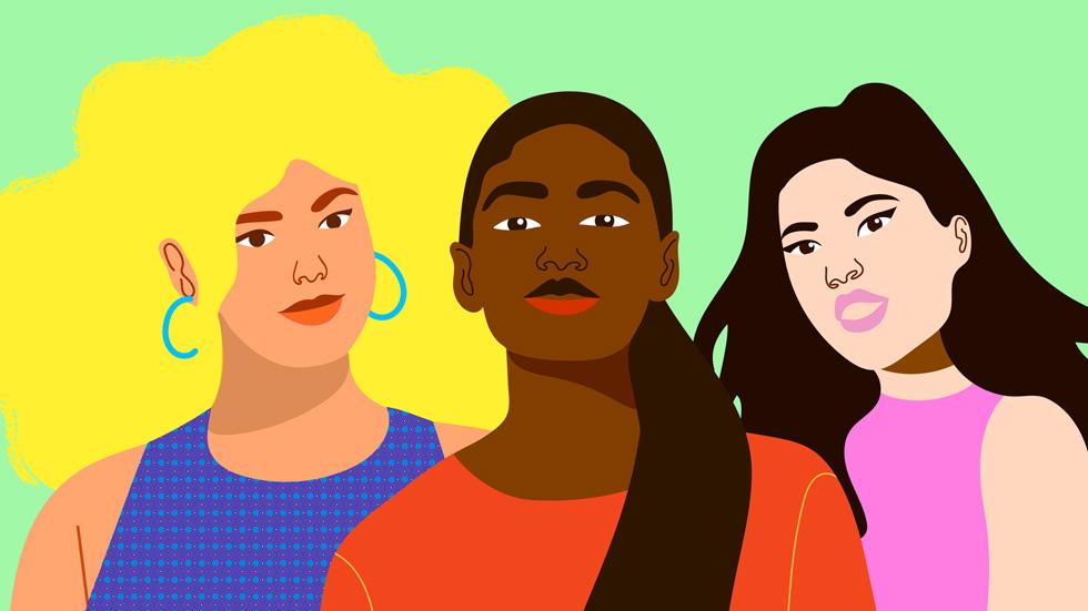 """艺术家 Aurélia Durand 为 Today at Apple 设计的""""She Creates""""插画。"""