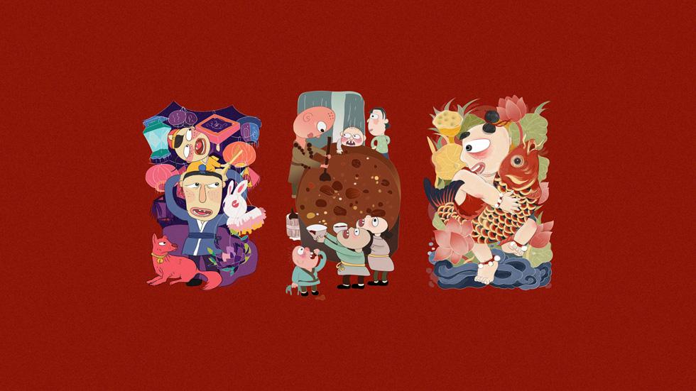 当代北京艺术作品,极富表达力的角色。