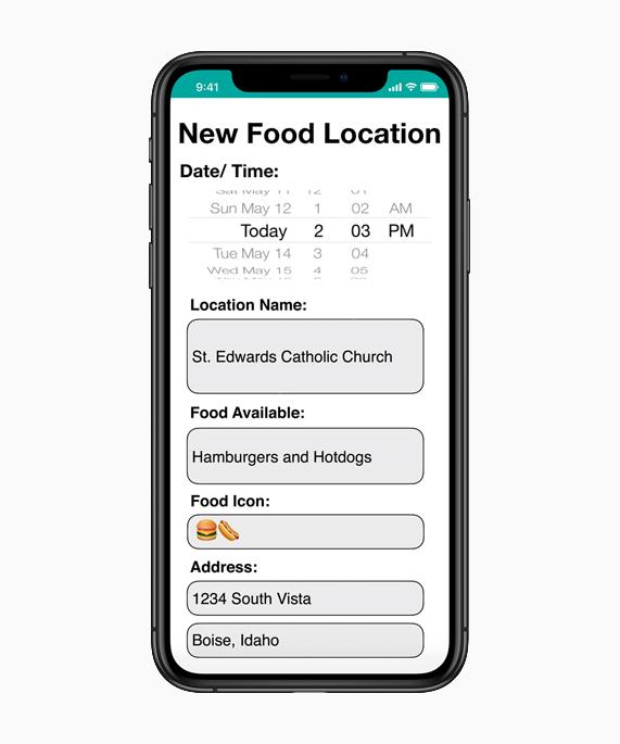 iPhone Xs 上的 Hope app 界面截图。