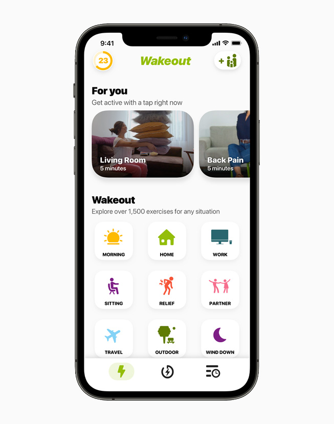 Wakeout!iPhone 12 Pro 上正在显示 Wakeout!