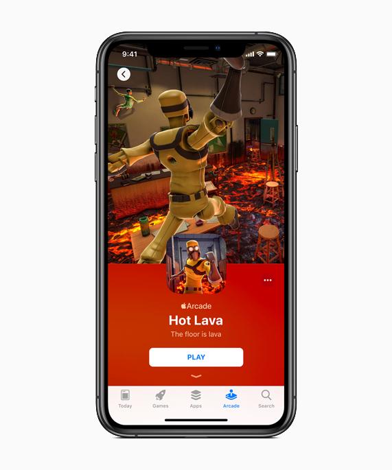 Apple Arcade 中《Hot Lava》的游戏画面。