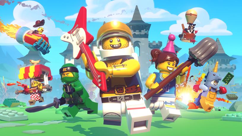 Apple Arcade 中《LEGO Brawls》的游戏画面。