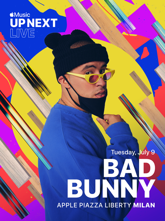 Apple Piazza Liberty 将举办 Apple Music Up Next Live,Bad Bunny 将现场演出。