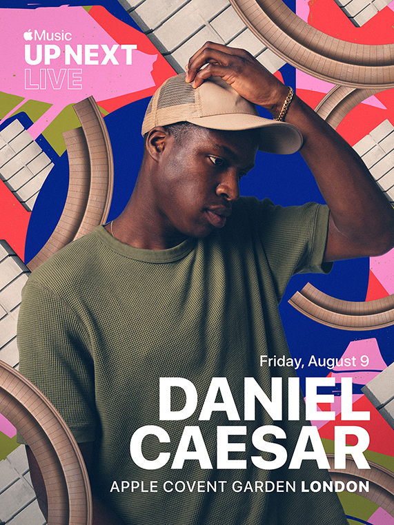 Apple Covent Garden 将举办 Apple Music Up Next Live,Daniel Caesar 将现场演出。