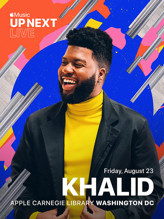 Apple Carnegie Library 将举办 Apple Music Up Next Live,Khalid 将现场演出。