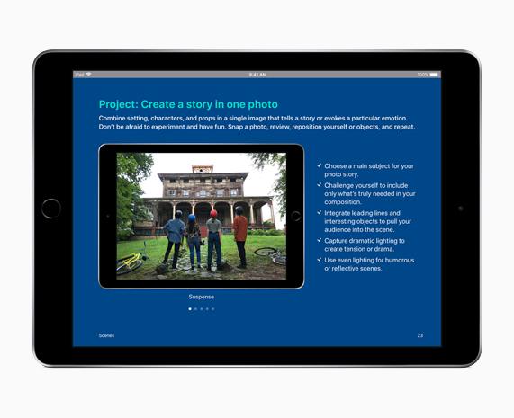 "iPad 展示""人人能创造""项目屏幕。"