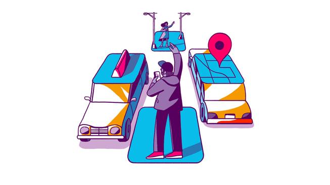 网约车类 app 的图像。