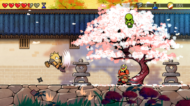 "Screenshot from ""Wonder Boy: The Dragon's Trap."""