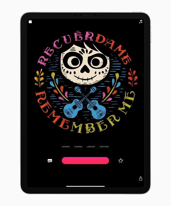 iPad 上可立拍中的《寻梦环游记》电影海报。