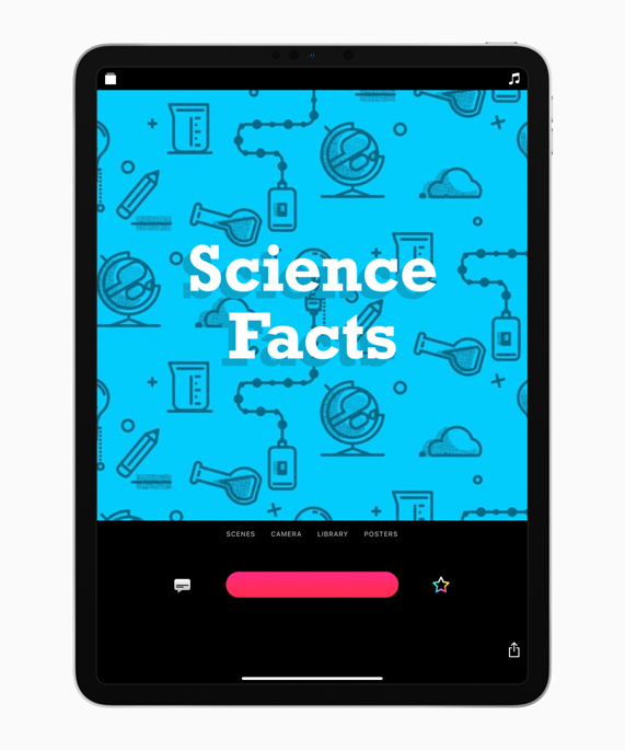 iPad 上可立拍中的《Science Facts》海报。