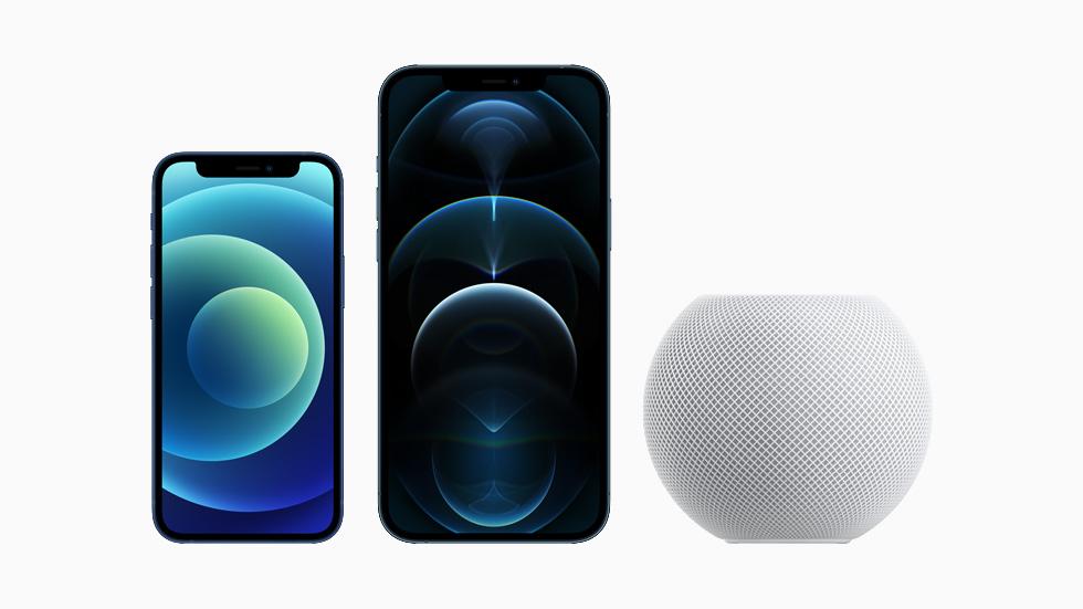 iPhone 12 mini 和 iPhone 12 Pro Max 。