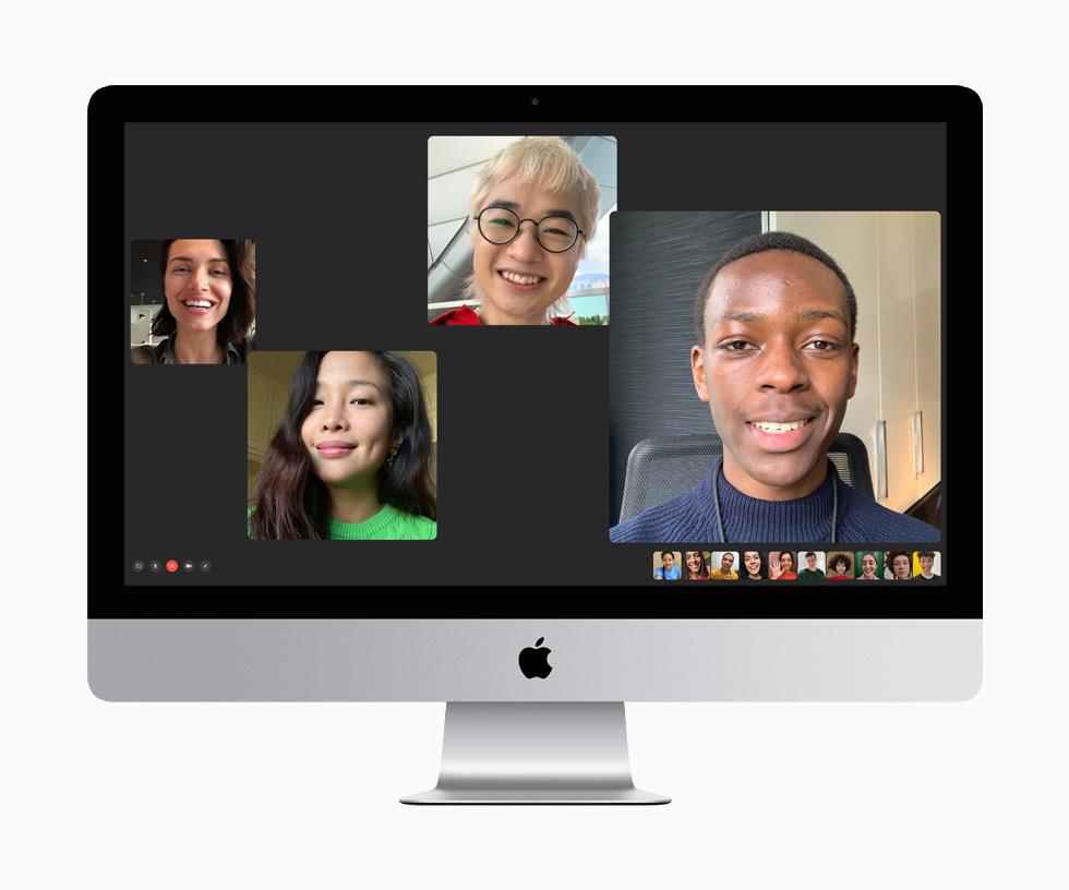 14 位用户在 27 英寸 iMac 上进行 FaceTime 通话