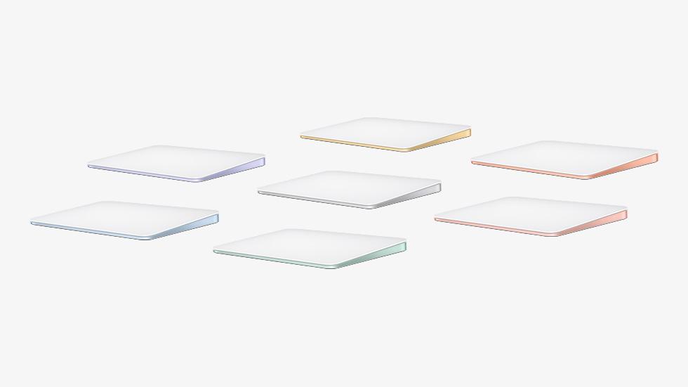 与 iMac 相配的七色妙控板。