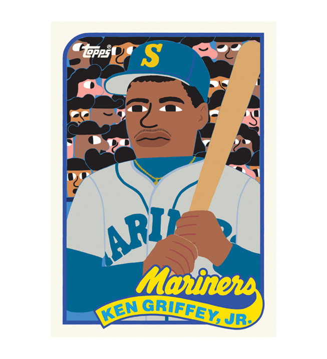 艺术家 Keith Shore 设计的 Ken Griffey Jr. 棒球球星卡。
