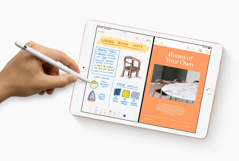 在 iPad 上配合 Apple Pencil 使用新的备忘录 app。