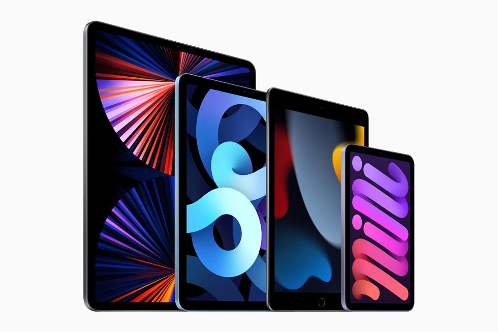 iPad 系列产品,分别是 iPad Pro、iPad、iPad Air 和 iPad mini。