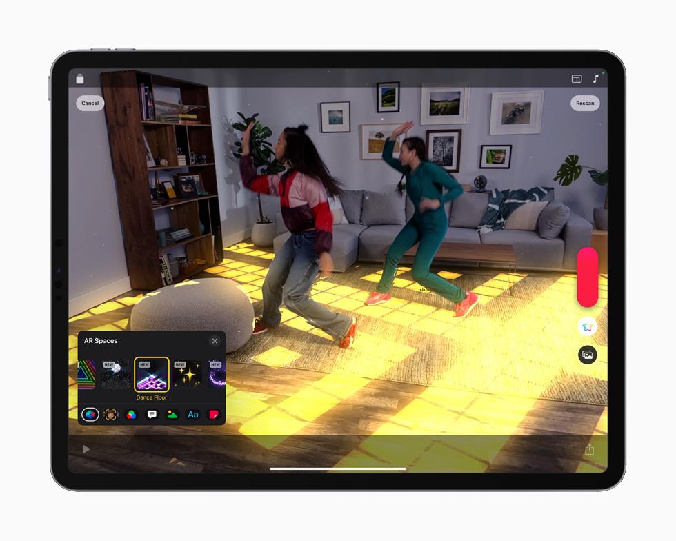 可立拍 app 展示 iPad Pro 上的激光雷达。