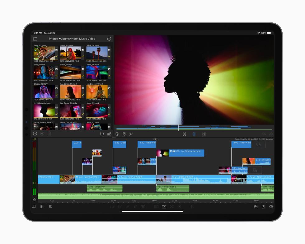 正在 iPad Pro 上编辑的一段音乐视频。