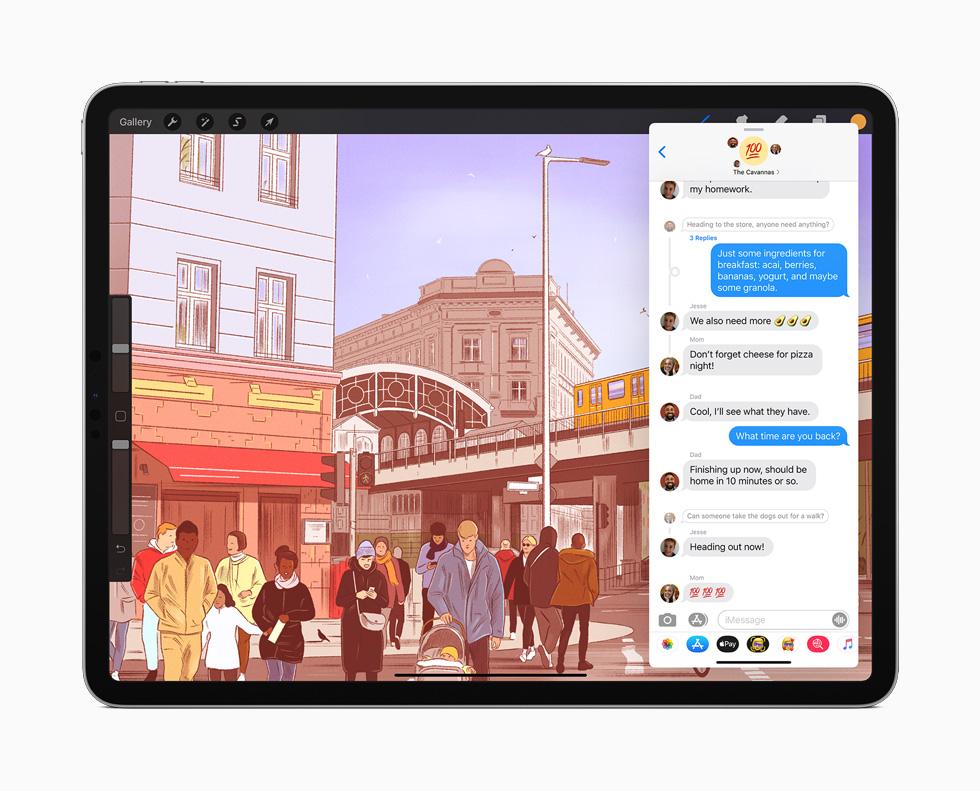 iPad Pro 上展示信息 app。