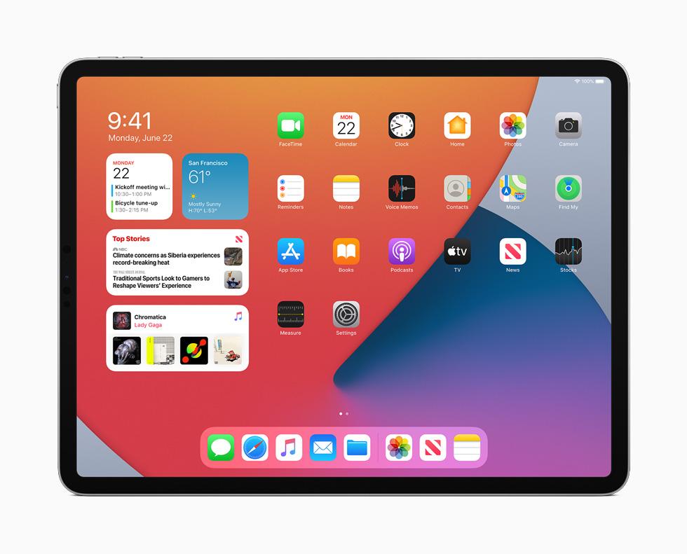 运行 iPadOS 14 的 iPad Pro