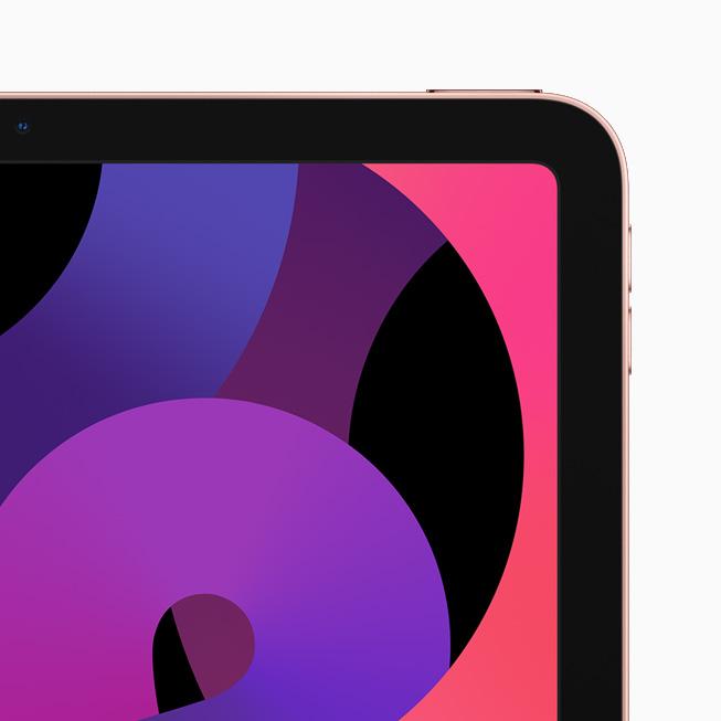 玫瑰金色 iPad Air。