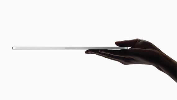 iPad Pro 侧面轮廓。