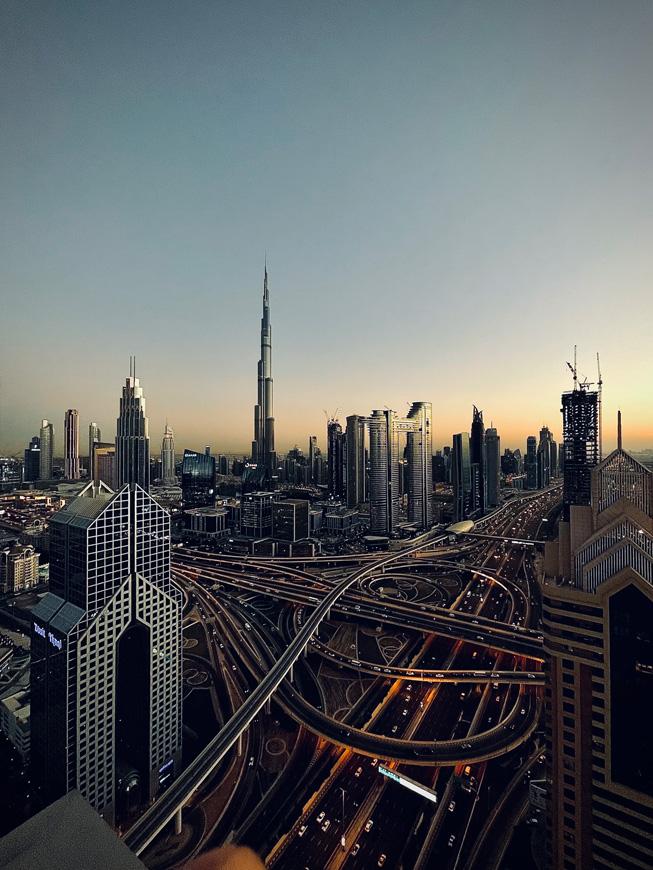 迪拜天际线。